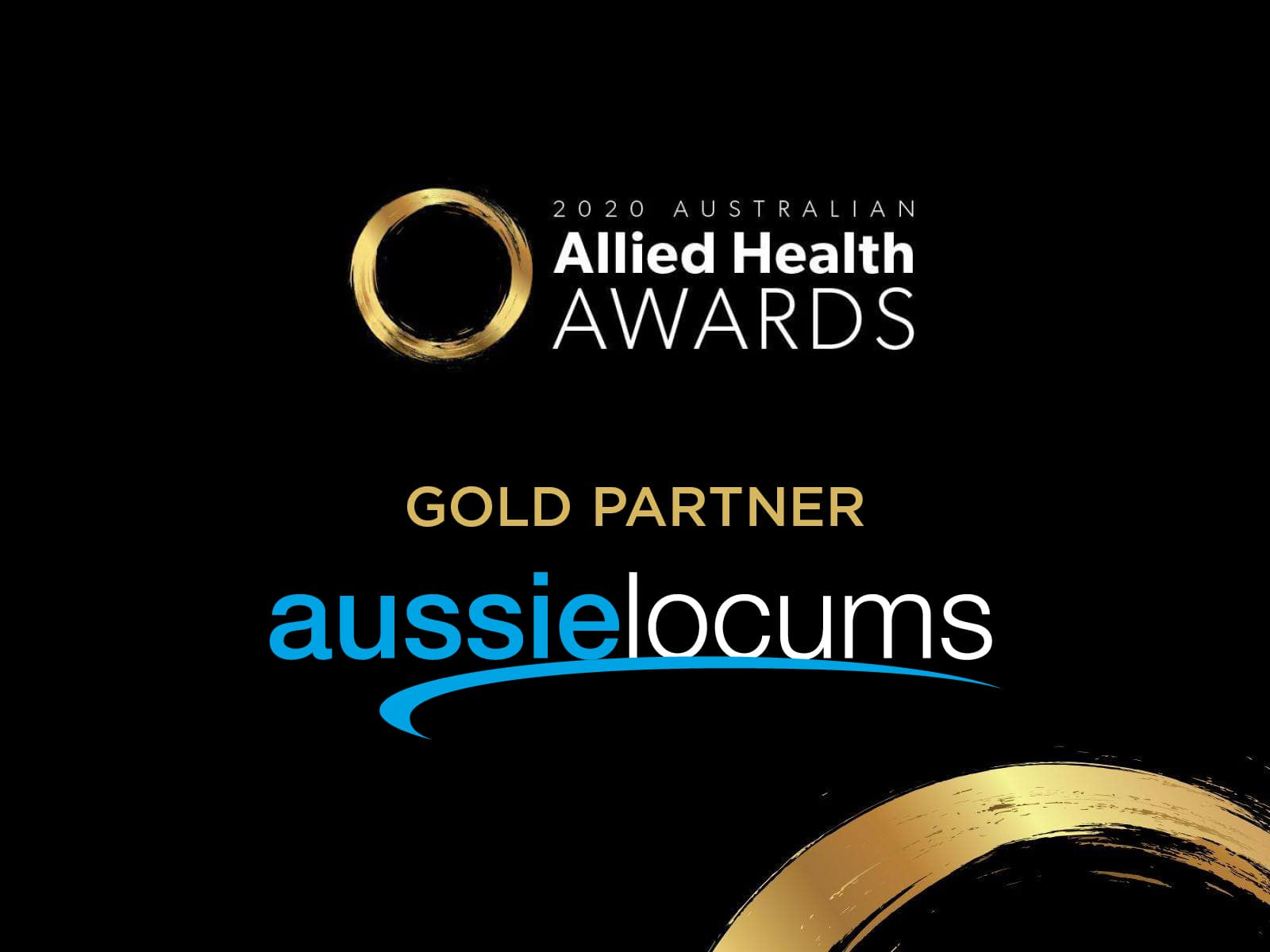 Gold Sponsorship Announcement for the 2020 Australian Allied Health Awards!